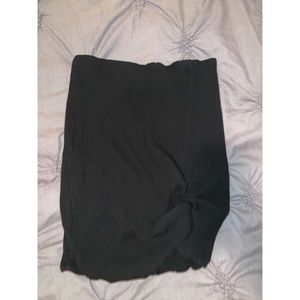 Ribbed Black, Cotton skirt